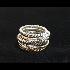 Premier Designs Women's Silver Plated Ring Size 5